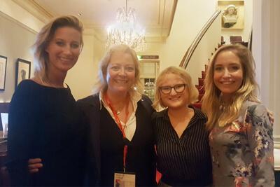 Barbara with three women
